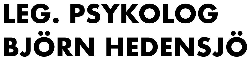 Psykolog Björn Hedensjö